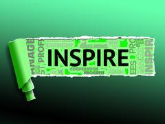 Inspiration Word Indicates Positive Motivate 3d Illustration Stock Illustration