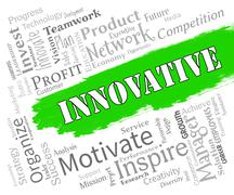 Innovative Words Represents Creative Breakthrough And Ideas Stock Illustration