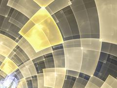Abstract composition with circular checkered pattern Stock Illustration