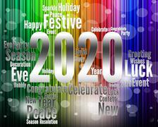 Two Thosand Twenty Indicates 2020 3d Illustration Stock Illustration