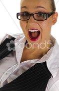 Junge Managerin, Sekretärin Porträt lachen Stock Photos