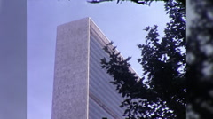 United Nations Building NYC Headquarters World Vintage Film Home Movie 9961 Stock Footage