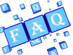 Faq Words Indicate Frequently Asked Questions 3d Rendering Stock Illustration