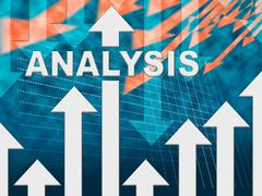 Analysis Graph Shows Data Analytics And Research Stock Illustration
