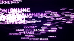 INTERNET MARKETING Keywords Explosion Background, Loop, 4k Stock Footage