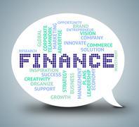 Finance Bubble Represents Financial Investment 3d Illustration Stock Illustration