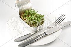 Essen der Zukunft Stock Photos