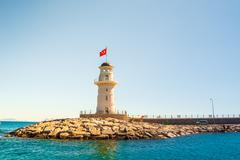 Lighthouse in Alanya Stock Photos