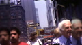People Buildings Manhattan Street Scene NYC 1970s Vintage Film Home Movie 9953 HD Footage
