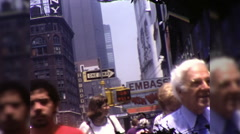 People Buildings Manhattan Street Scene NYC 1970s Vintage Film Home Movie 9953 Stock Footage