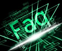 Faq Word Indicates Frequently Asked Questions And Advice Stock Illustration