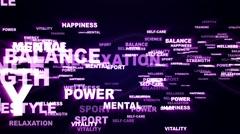 HEALTH Keywords Explosion Background, Loop, 4k Stock Footage