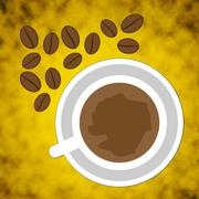 Coffee Beans Represents Cafe Drink And Caffeine Stock Illustration