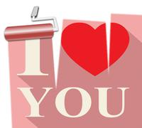 Love You Represents Dating Lovers 3d Illustration Stock Illustration