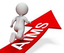 Aims Arrow Means Ambitious Progress 3d Rendering Stock Illustration