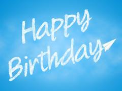 Happy Birthday Represents Joy Greeting And Celebration Stock Illustration