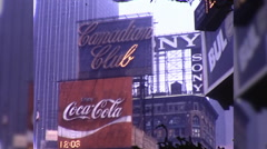People Times Square 42nd Theaters Crowd NYC 1970s Vintage Film Home Movie 9950 Stock Footage