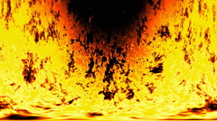 Burning fire generated seamless loop video Stock Footage