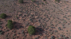 Flying Over Desert Tilting Up Towards Epic Canyon Vista Stock Footage