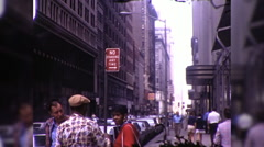 People New York City NYC Radio City Music Hall 70s Vintage Film Home Movie 9948 Stock Footage