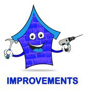 House Improvements Represents Home Or Property Renovation Stock Illustration