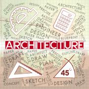 Architecture Drawing Represents Building Design And Plans Piirros