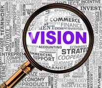 Vision Magnifier Means Aim Forecasting 3d Rendering Stock Illustration