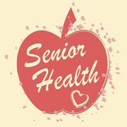 Senior Health Indicates Elderly Wellness And Care Stock Illustration
