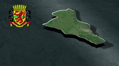 Brazzaville with Coat Of Arms Animation Map Stock Footage