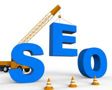 Build Seo Means Search Engine 3d Rendering Stock Illustration