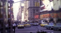 People Times Square 42nd Street Theaters NYC 1970s Vintage Film Home Movie 9944 HD Footage