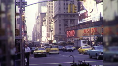 People Times Square 42nd Street Theaters NYC 1970s Vintage Film Home Movie 9944 Stock Footage