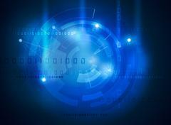 Futuristic data high tech interface Stock Illustration