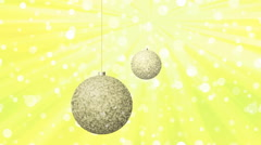 Christmas balls generated seamless loop video Stock Footage