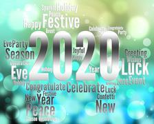 Two Thosand Twenty Year Indicates 2020 Illustration Stock Illustration
