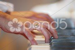 Klavierspiel Stock Photos