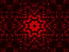Abstract red kaleidoscope animation Stock Footage