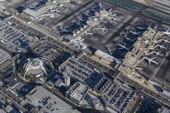 Los Angeles International Airport Buildings Aerial Stock Photos