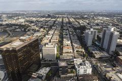 West Los Angeles Aerial Stock Photos