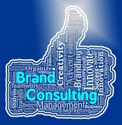 Brand Consulting Means Company Identity Logo Rebranding Stock Illustration