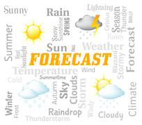 Weather Forecast Represents Meteorological Conditions And Climate Stock Illustration