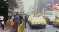 Taxis Cabs on Street People Manhattan NYC 1970s Vintage Film Home Movie 10042 HD Footage
