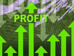 Profit Graph Shows Growth Earning And Income Stock Illustration