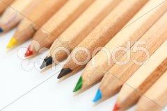 Schräge Buntstift Farbspitzen Stock Photos
