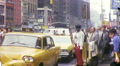 Taxis Cabs on Street People Manhattan NYC 1970s Vintage Film Home Movie 1041 Footage
