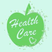 Health Care Shows Medical Wellness And Wellbeing Stock Illustration