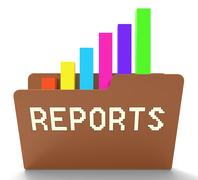 Reports File Means Progress Chart 3d Rendering Stock Illustration