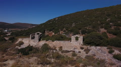 Greek ruins on the island  of Paros. Stock Footage