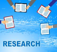 Research Books Represents Gathering Data And Analysis Stock Illustration