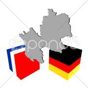 Deutschland und Frankreich Stock Photos